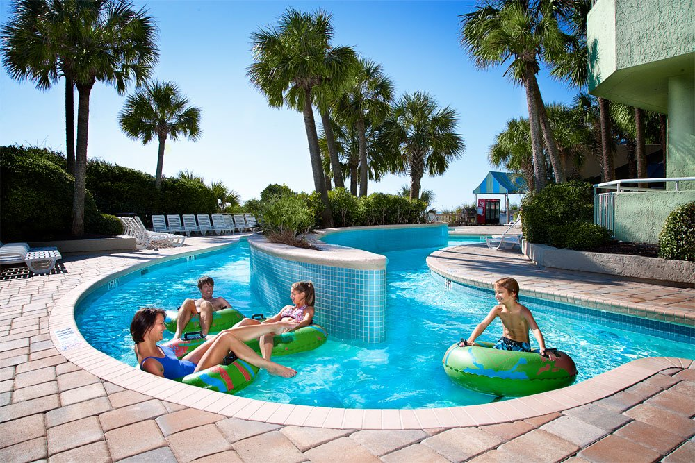 Coral Beach Resort waterpark lazy river