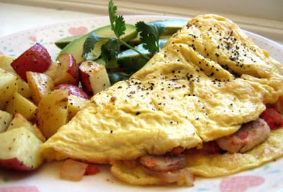 omelette with potatoes